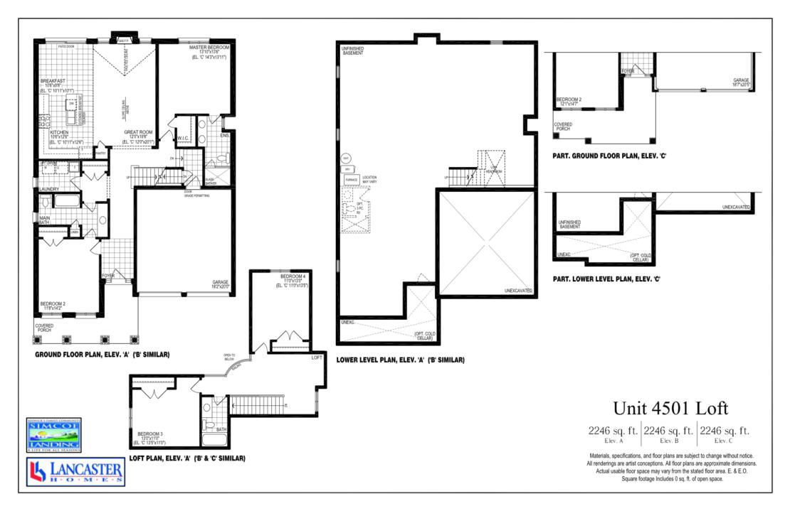 The Georgina w/ Loft - Floor Plan