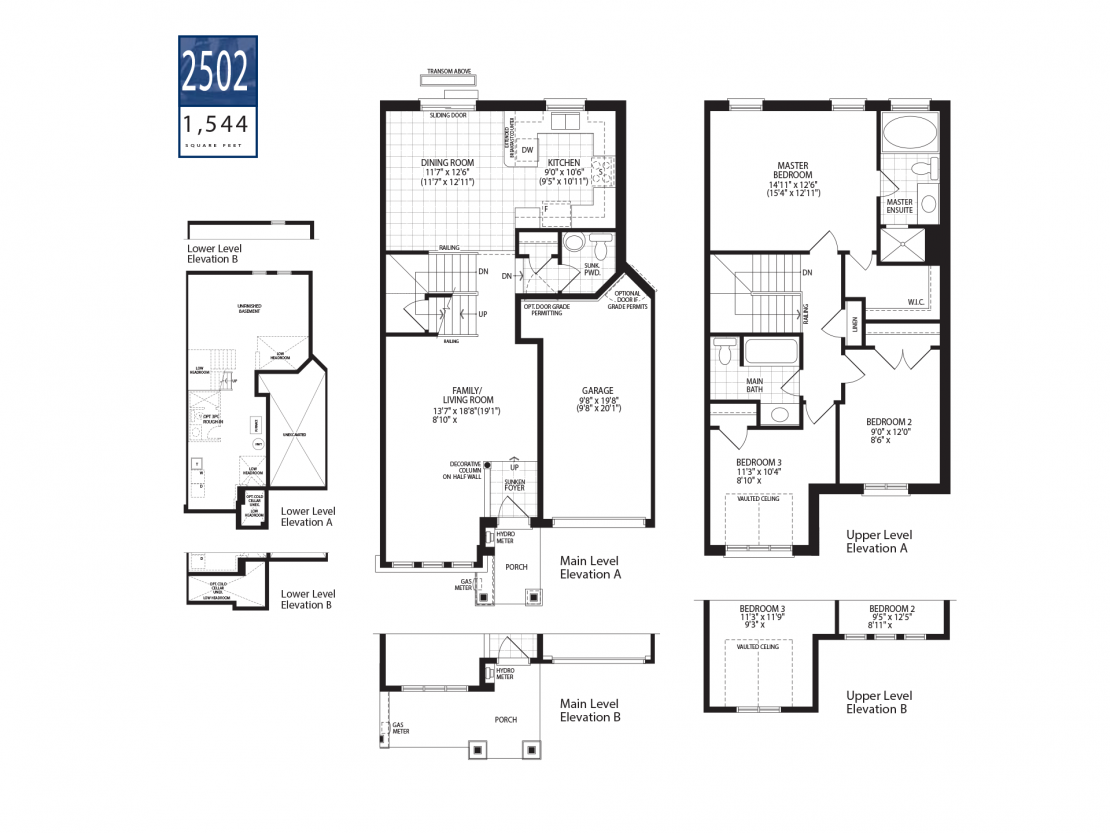 Townhome 2502  -  Floor Plan