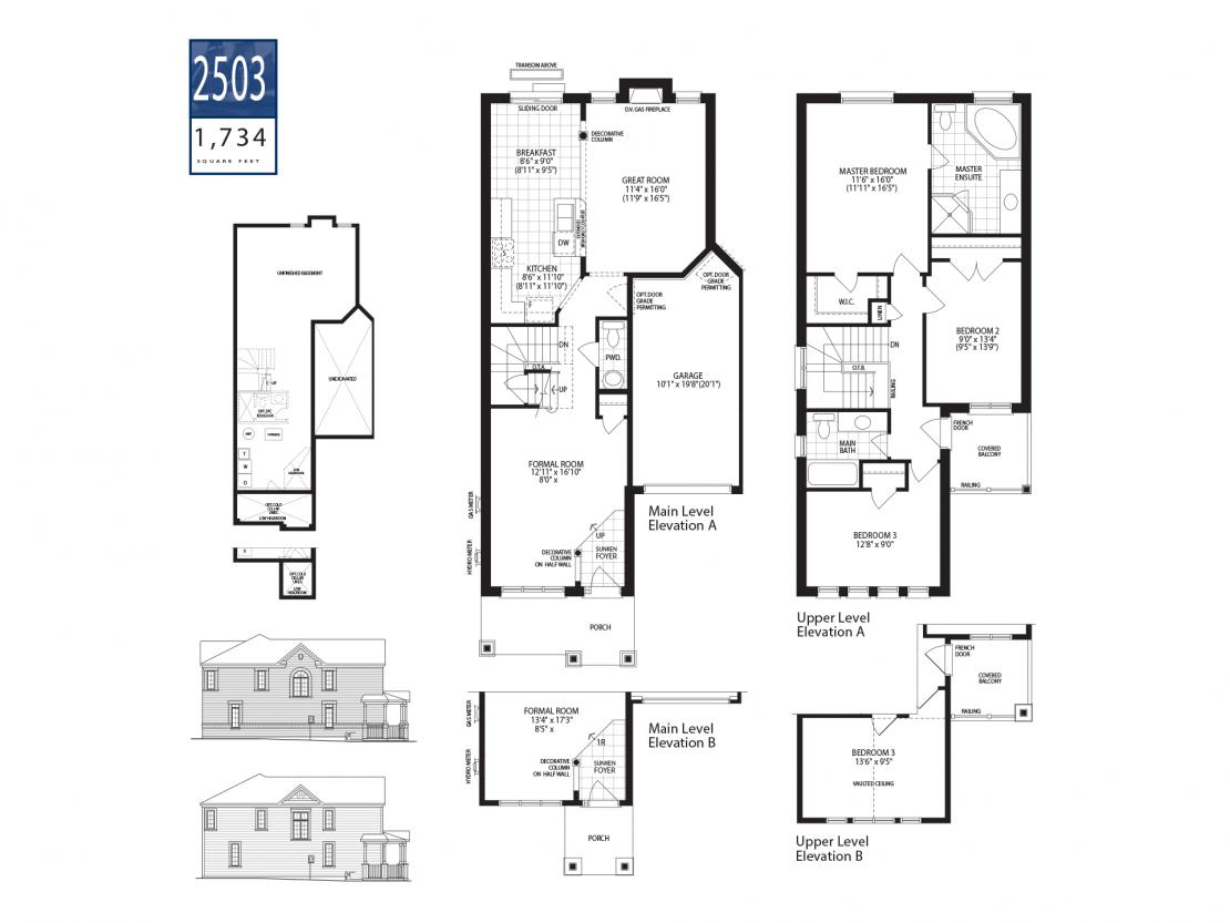 Townhome 2503 - Floor Plan