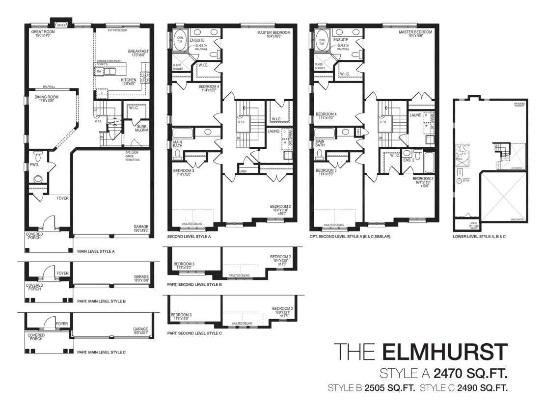 The Elmhurst  -  Floor Plan